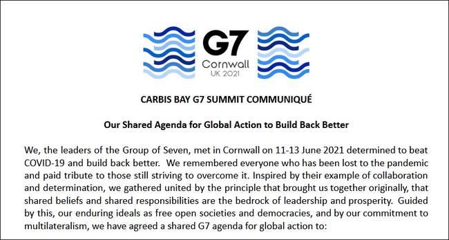 6月15日例行記者會,外交部回應G7峰會公報