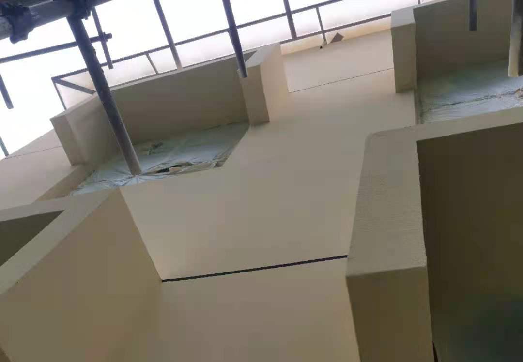 楼顶防水施工现场