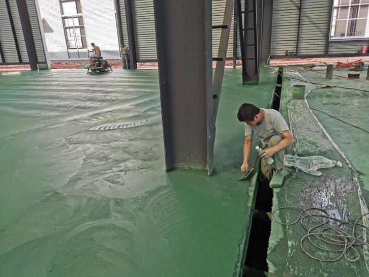 点成建材带你了解四川金刚砂地坪的施工工艺