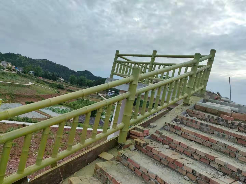 四川仿竹栏杆安装