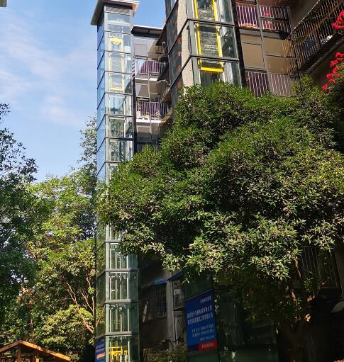 四川旧楼加装电梯施工