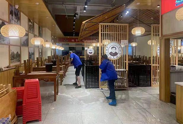 四川餐饮店地面防滑处理成功案例
