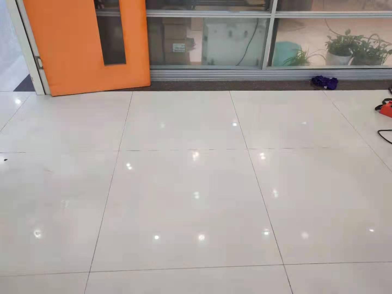 四川瓷砖修复--崇州捷普A1办公楼地面瓷砖修复案例