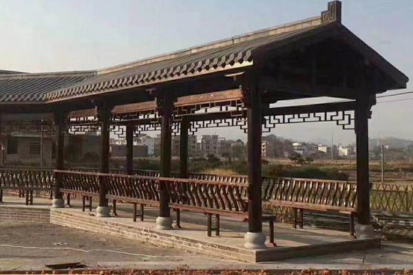鹤壁防腐木长廊施工