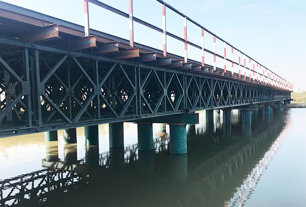 四川钢便桥安装成功案例