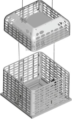 六盘水煤矿更衣室电动吊篮--自动分体式吊篮