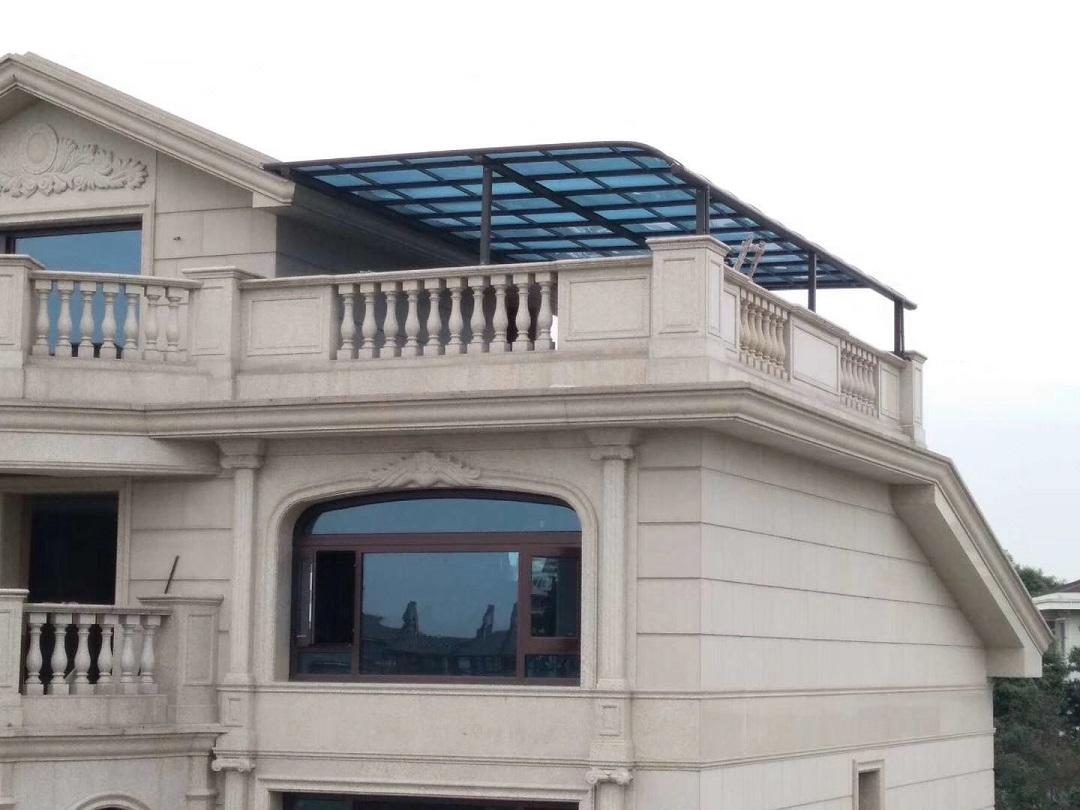 成都铝合金雨棚安装案例