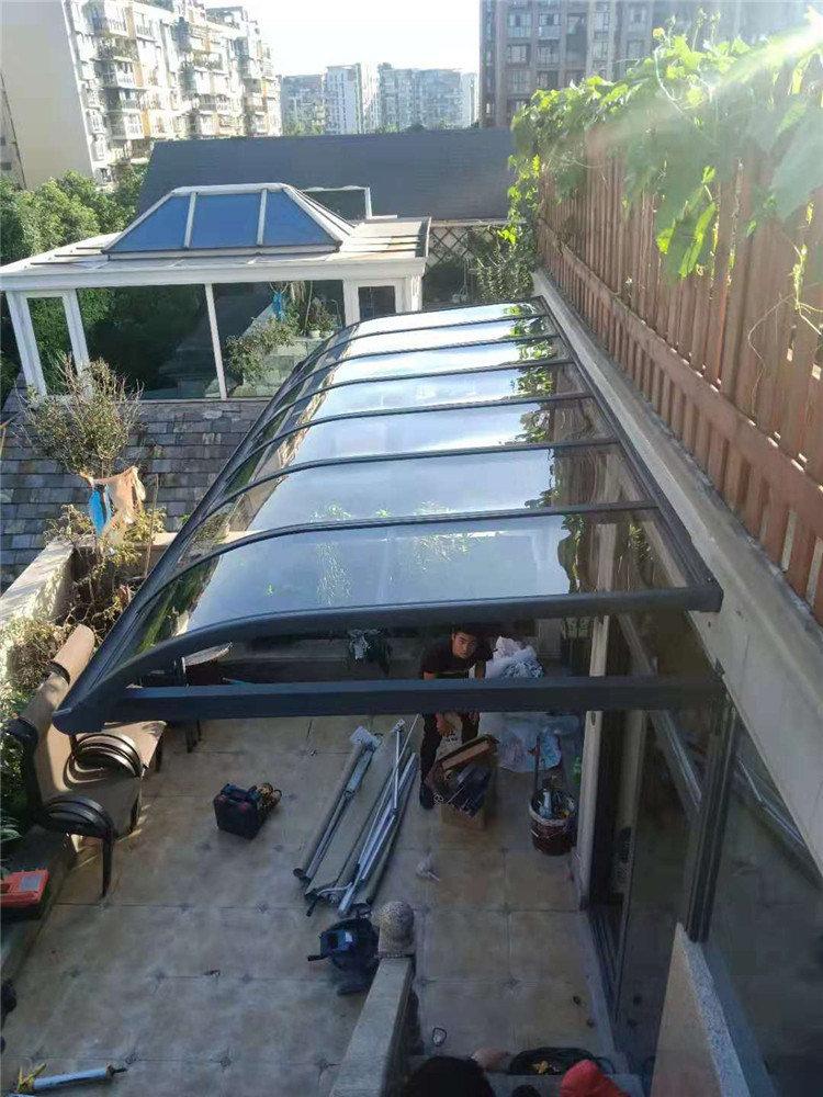 成都铝合金露台棚安装案例