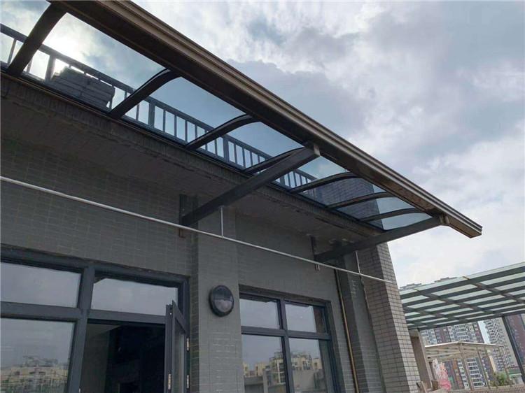 成都铝合金雨棚安装