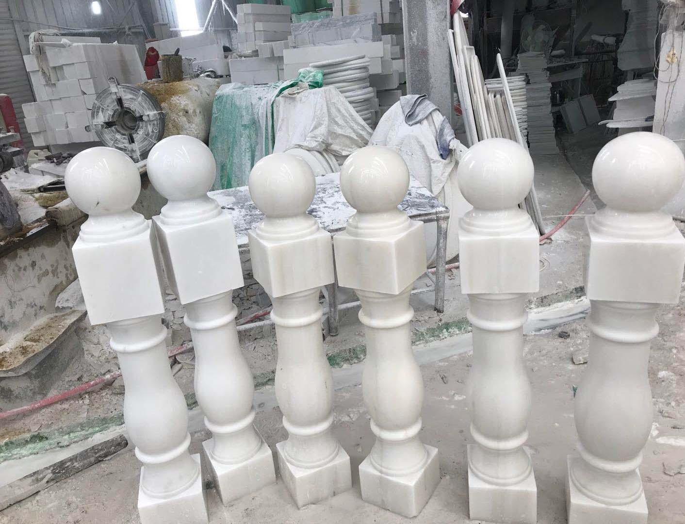 汉白玉花瓶柱案例