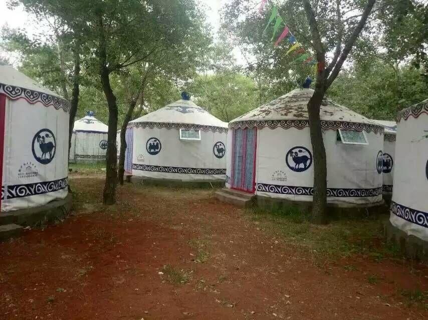 厂家直销蒙古包|白色大化防水帆布蒙古包厂家