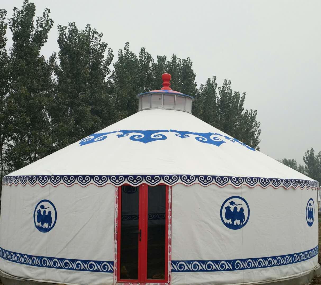 农庄蒙古包--豪华铝合金竹艺蒙古包