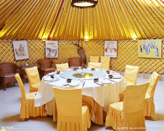 蒙古族的民俗文化特征--景区蒙古包