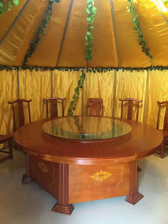 改良钢架蒙古包 餐饮住宿