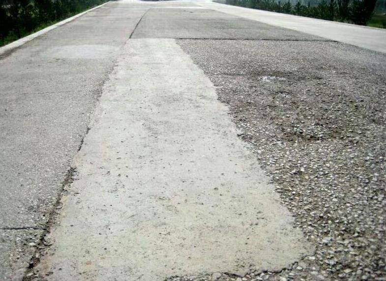 当水泥混凝土板的边缘全深断裂时,按照全深修复法进行修复,看看吧