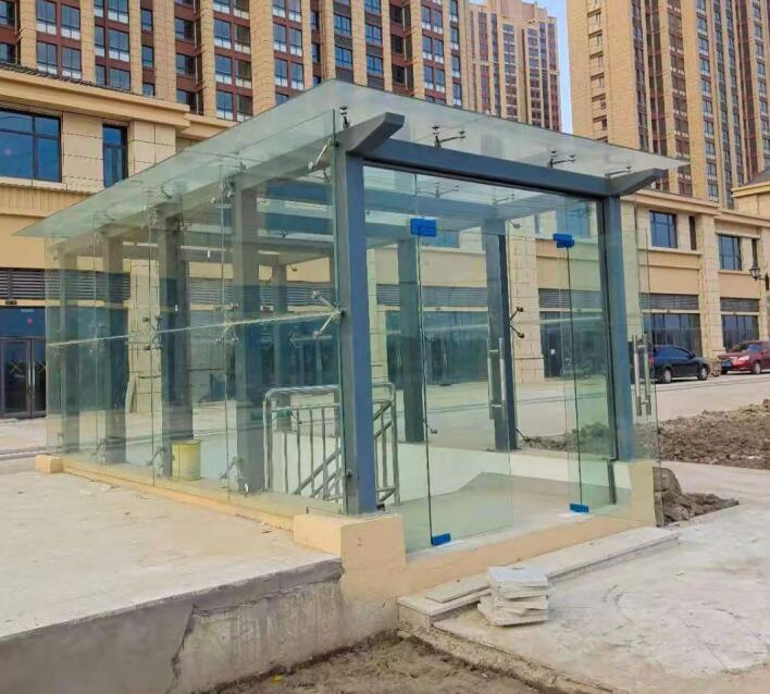 延安玻璃雨棚