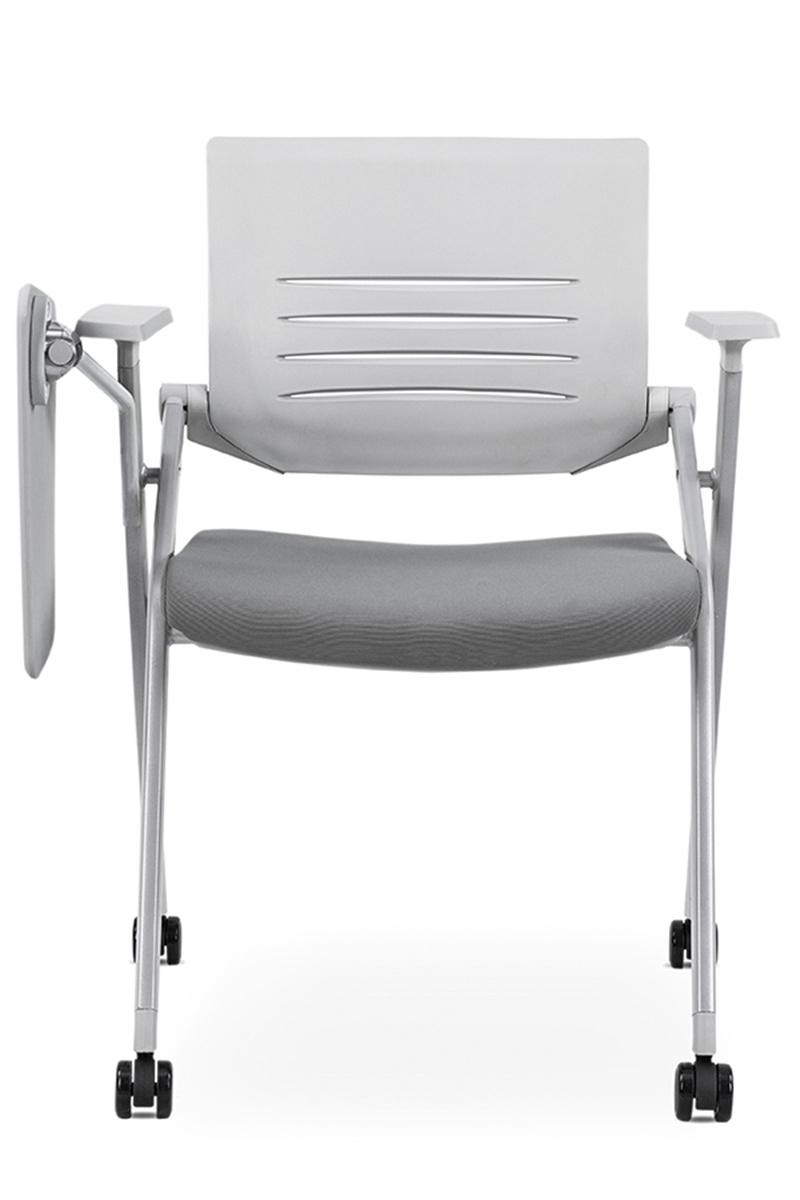 学校培训椅带滑轮写字板