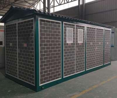 汉中箱式变电站-喷砂砖块式
