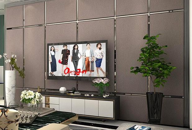 电视背景墙硬包