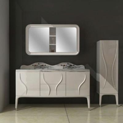 奢华现代浴室柜 免拉手现代浴室柜