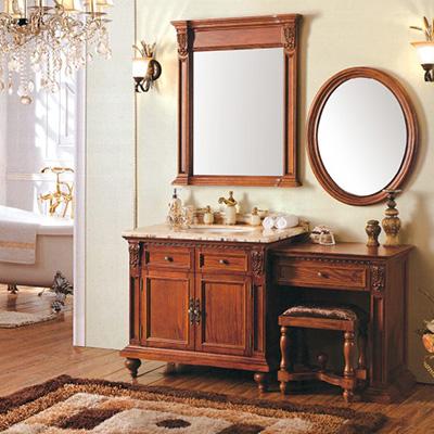 ZM-88085 梳妆美式浴室柜 红橡木美式浴室柜 古典美式浴室柜