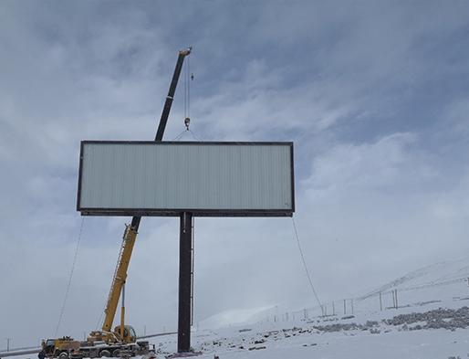 西藏高炮广告牌制作