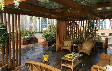 屋顶花园施工