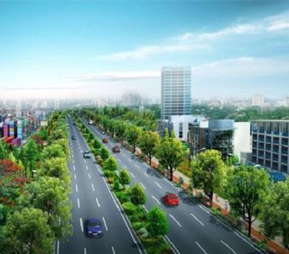 韩城道路绿化设计案例