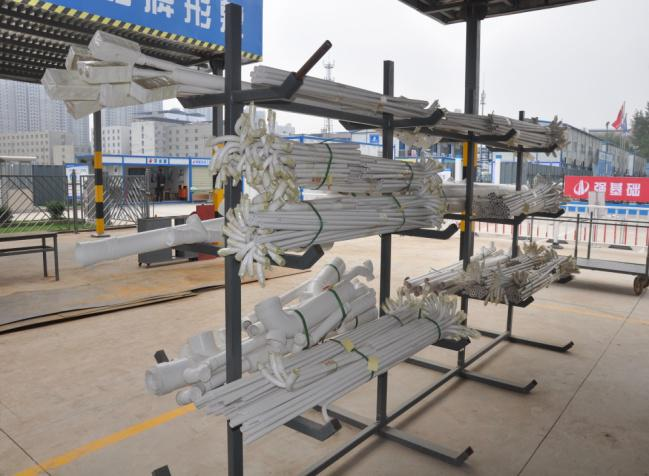 PVC半成品材料堆放架图例