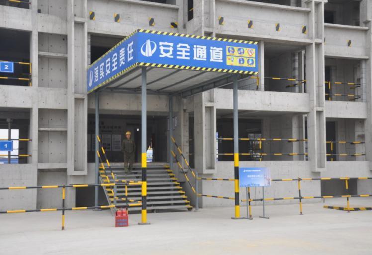 施工电梯安全通道图例