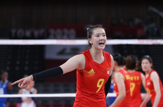 7月31日,中国队球员张常宁在比赛中。新华社记者丁汀摄