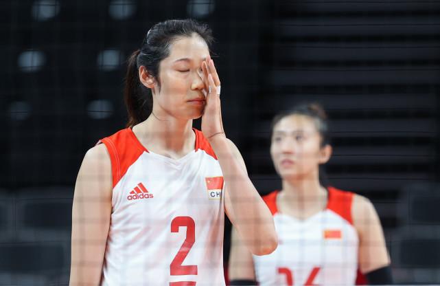 7月29日,中国队球员朱婷在比赛中。新华社记者丁汀摄