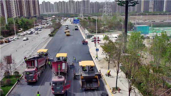 沥青路面铺设