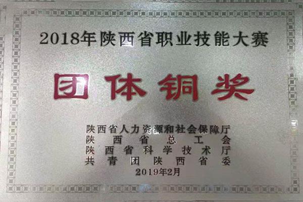 2018年陕西省职业技能大赛团体铜奖