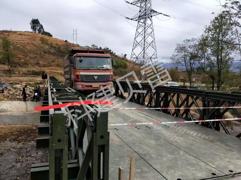四川贝雷钢桥施工