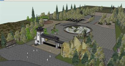 河南景区模型