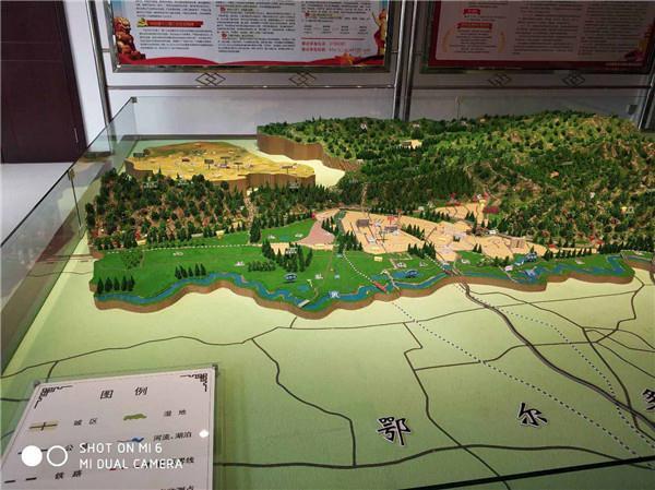 河南景区地形模型