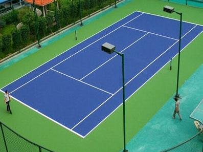 硅PU网球场施工建设