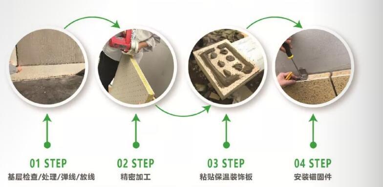 保温装饰板粘锚施工工艺