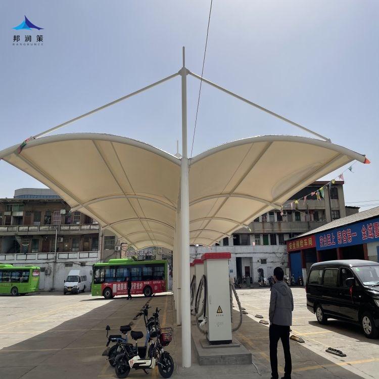 陕西加油站膜结构安装