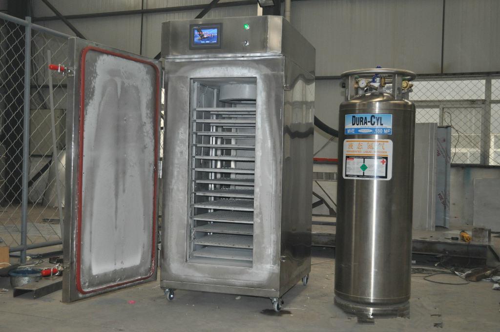 隧道式液氯速冻机与柜式液室速冻机的比较?