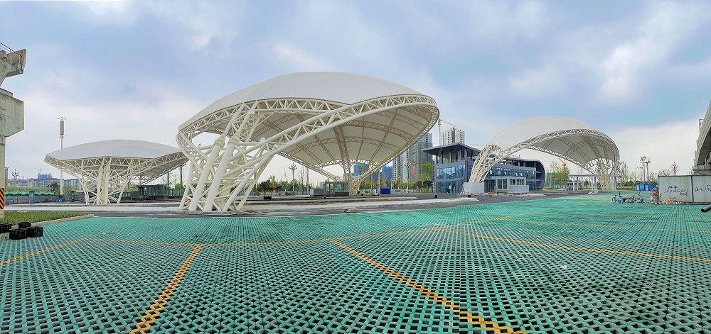 高铁站钢结构覆膜