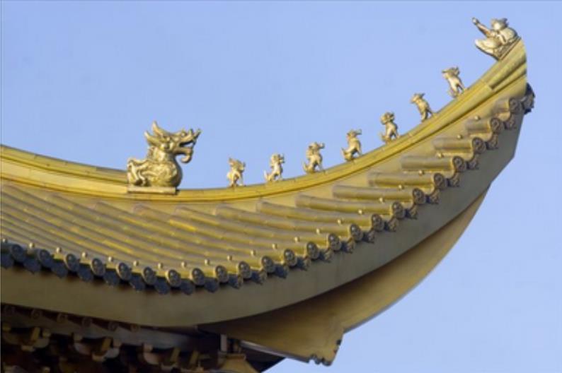 黄铜瓦屋面