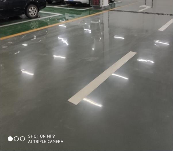 河南某公司停车场环氧树脂地坪施工案例