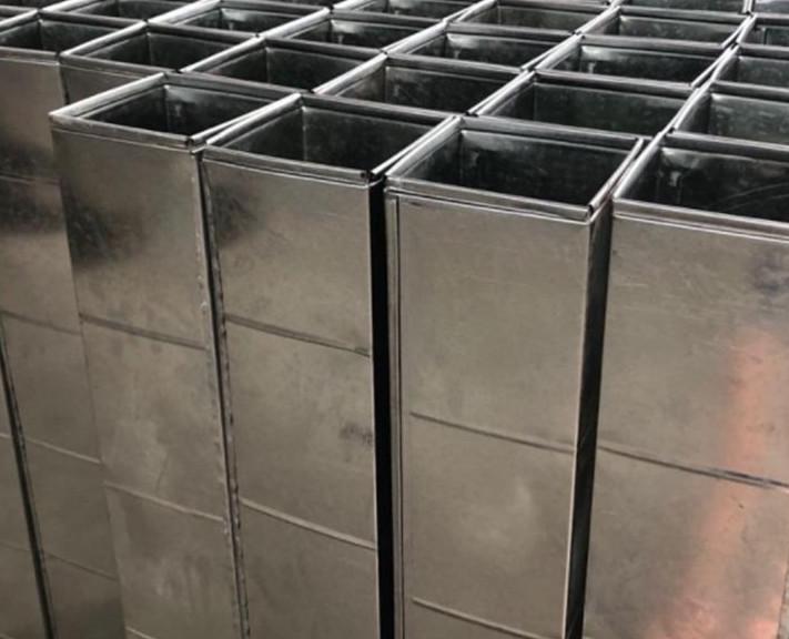 内蒙不锈钢通风管道 法兰风管安装厂家