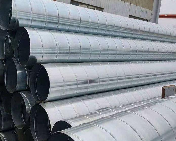 内蒙通风管道白铁不锈钢螺旋风管厂家