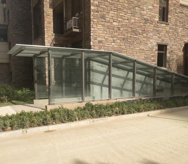 河南车库玻璃雨棚安装