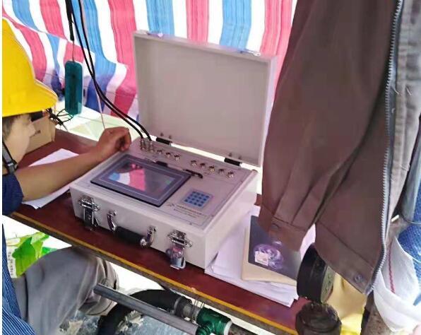 溪洛渡水电站后期维修灌浆工程中使用了鼎盛华瑞灌浆记录仪