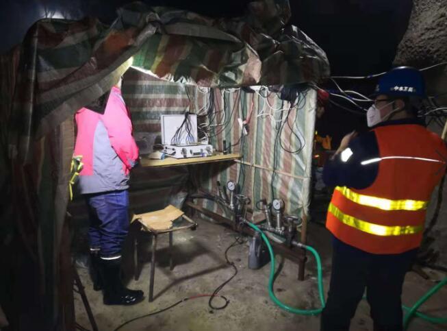 东北引水灌浆工程使用了鼎盛华瑞灌浆记录仪