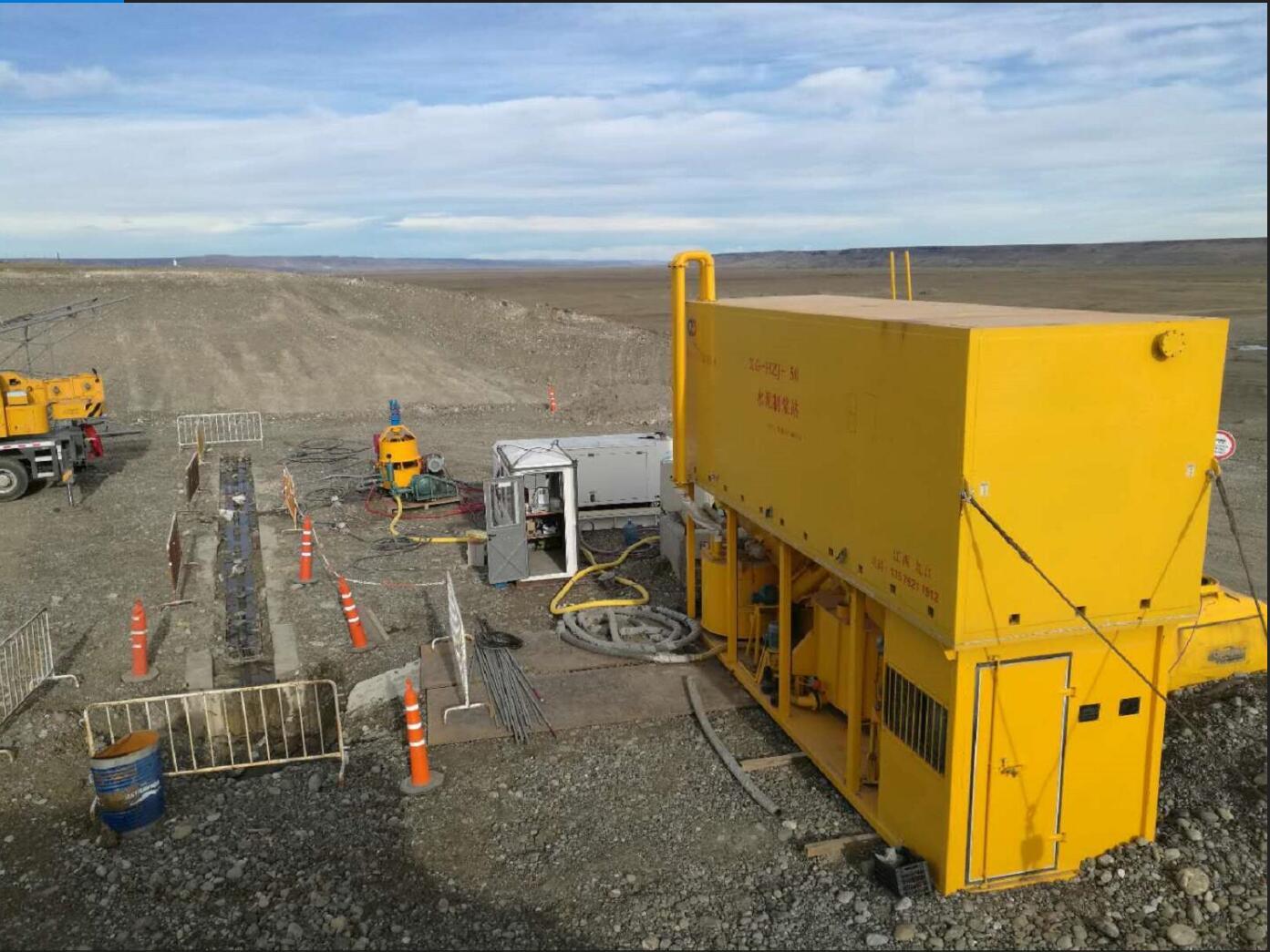 阿根廷圣克鲁斯LB大坝灌浆工程中使用鼎盛华瑞灌浆记录仪